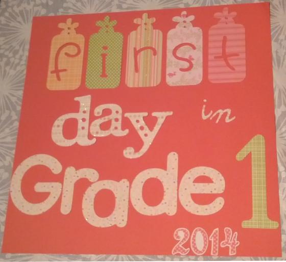 Grade 1 sign