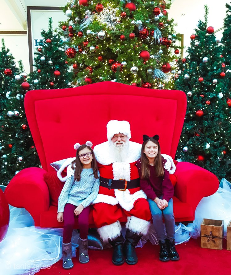 Two sisters with Santa Clause: tania2atee
